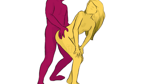 Секс позиция Стоя сзади